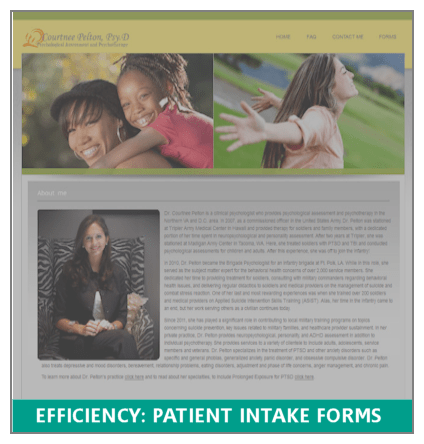 Efficiency: Patient Intake Forms