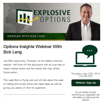Explosive Options Newsletter template
