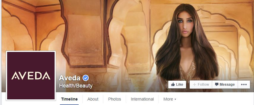 Aveda Facebook - Building Brand Recognition