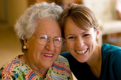 senior lady with companion