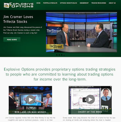 Explosive Options homepage