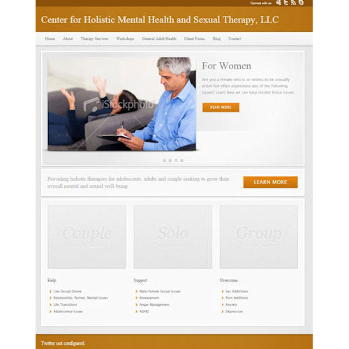CHMHST before Social Light website redesign
