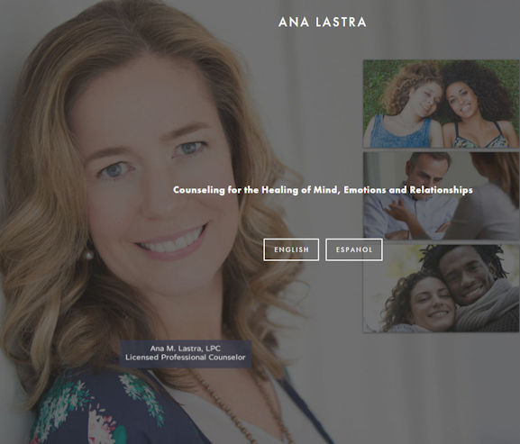 Ana Lastra - Social Light Web Design Portfolio