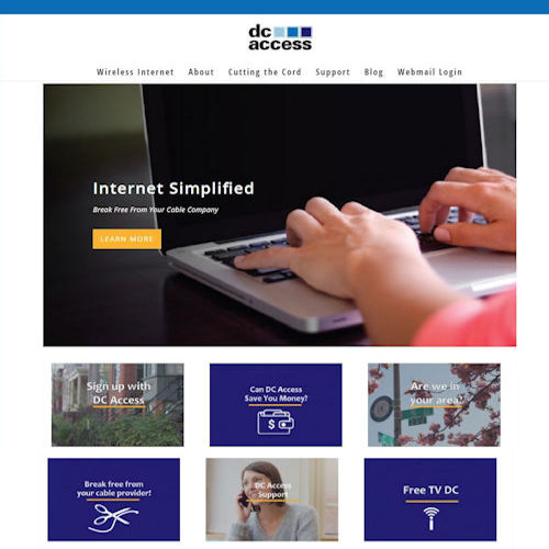 DC Access - Social Light Web Design Portfolio