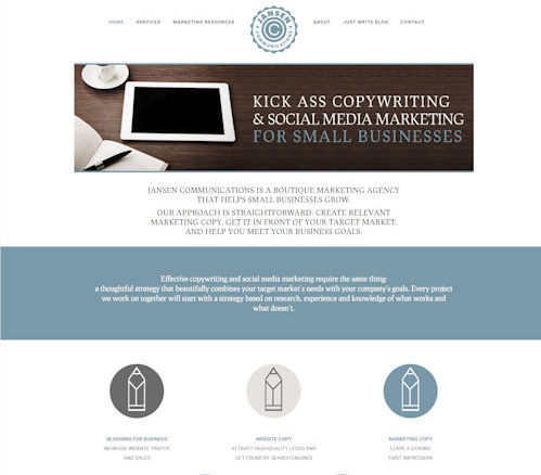 Jasnen Communications - Social Light Web Design Portfolio