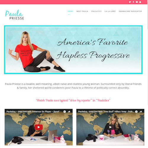 Paula Priesse - Social Light Web Design Portfolio