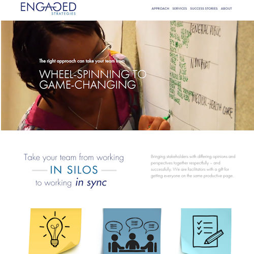 engaged-strategies- Social Light Web Design Portfolio