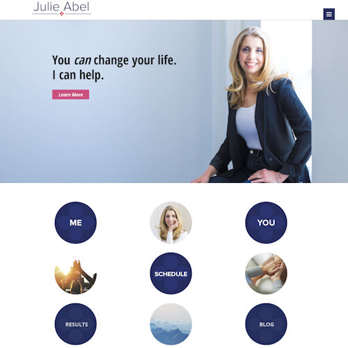 julie abel coaching - Social Light Web Design Portfolio