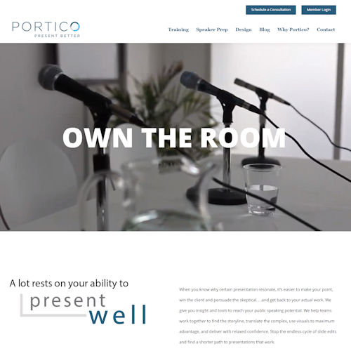 portico - Social Light Web Design Portfolio