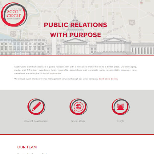 Scott Circle - Social Light Web Design Portfolio