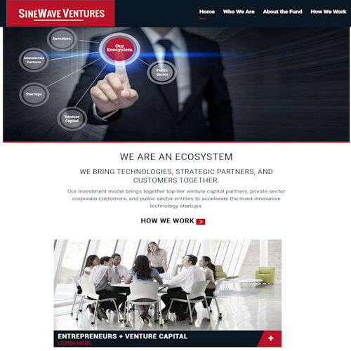 Sinewave Ventures - Social Light Web Design Portfolio