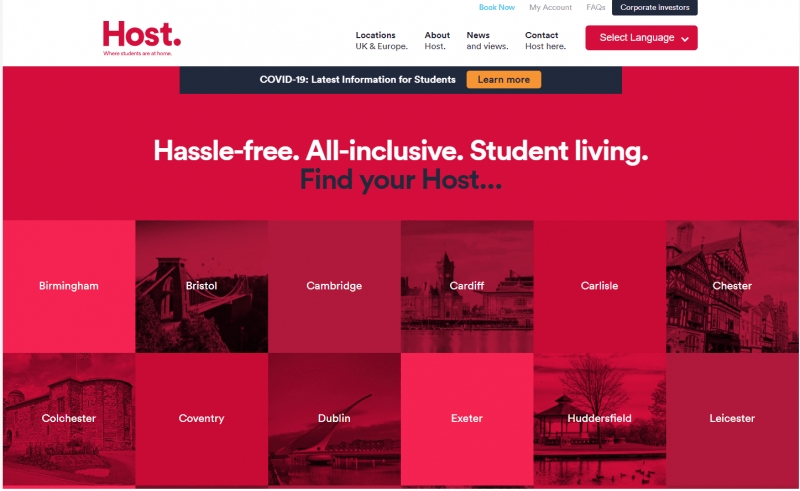 host students website