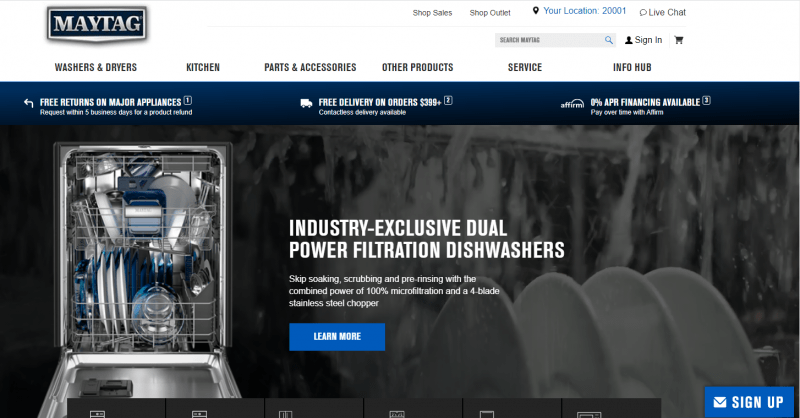 maytag website