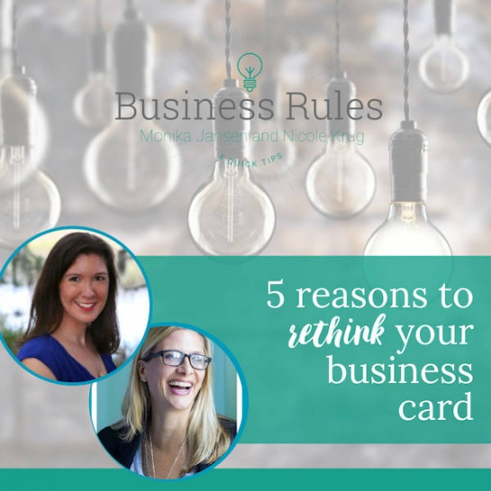 5 reasons to rethink your business cards | Business Rules Marketing video