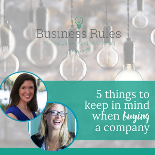 5 things to keep in mind when buying a company | Business Rules Marketing video