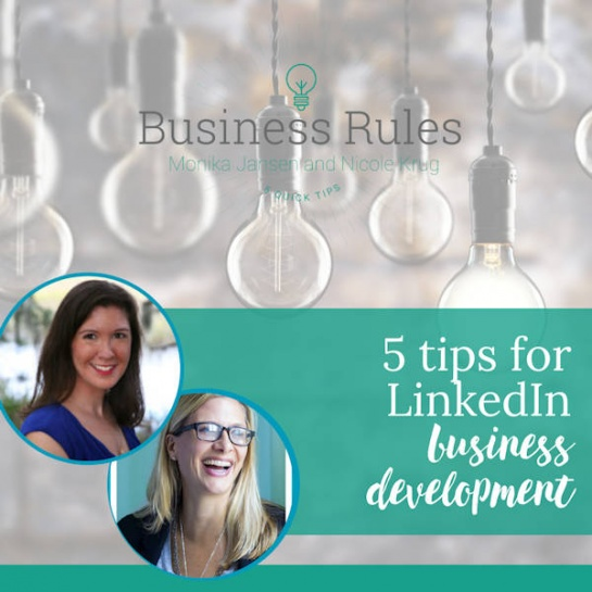 5 ways to use LinkedIn for business development | Business Rules Marketing video