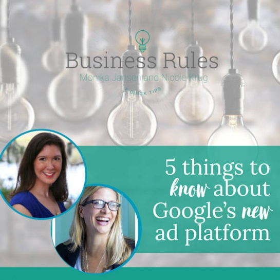 5 things you should know about Google's new ad platform| Business Rules Marketing video
