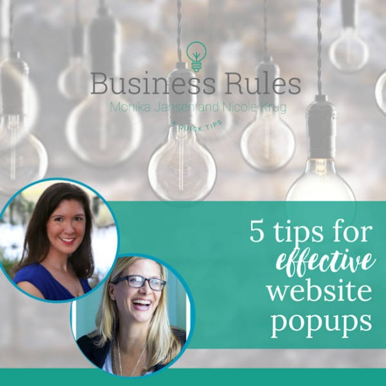 5 tips for effective website popups | Business Rules Marketing video